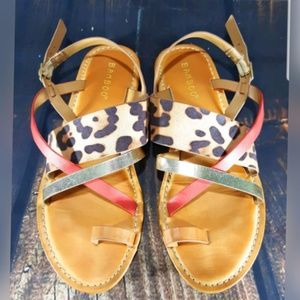 BAMBOO Animal Print Sandal